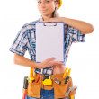Female construction worker — Stock Photo #36065055