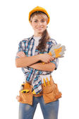 Beautiful female worker — Stock Photo