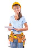 Vrouwelijke werknemer — Stockfoto
