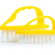 Two small kitchen brushes isolated — Stock Photo