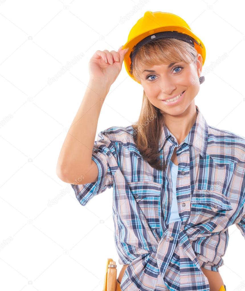 девушка-строитель картинки