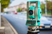 Theodolite urban street — Stock Photo