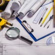 Stock Photo: Architecture tools