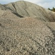 Stock Photo: Close up view on big pile of gravel