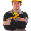 Young worker with crossed arms — Stock Photo