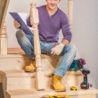 Young carpenter with tools — Stock Photo #40002059