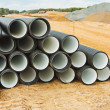 Pile of big pipes — Stockfoto