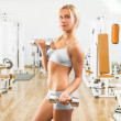Young girl in gym — Stock Photo #41439547