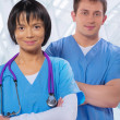 Portrait of medical workers — Stock Photo