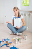 Beautiful female painter — Stock Photo