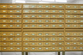 Card catalog — Stock Photo