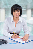 Female office worker — Stock Photo