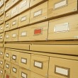 Old wooden card catalogue — Stock Photo #49114591