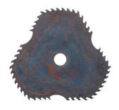 Circular saw blade for cutting woods — Stock Photo