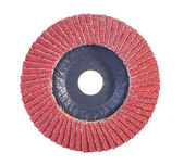 Red color abrasive flap disc — Stock Photo