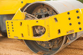 Roll of sand compactor — Stock Photo
