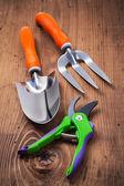 Sada zahradnické ruční nářadí — Stock fotografie