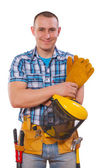 Young worker with tools — Stock Photo