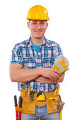 Worker with crossed arms — Stock Photo