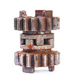 Rusted  block gear — Stock Photo