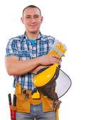 Young man carpenter — Stock Photo