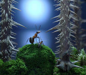 Mother, don't leave me here! ant tales, thriller — Stock Photo