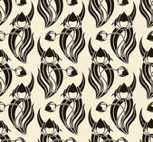 Seamless pattern with tulips — Vetor de Stock