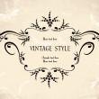 marco floral vintage — Vector de stock  #2758858