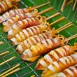 Grilled squids on market - Stock Photo