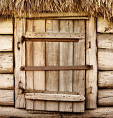Old wooden rustic door — Stock Photo
