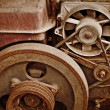 Stock Photo: Old dilapidated machinery