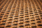 Surface of a rusty metal floor — Stock Photo