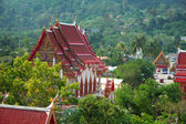 Buddhist temple - Thailand, Phuket, Wat Chalong. — Stock Photo