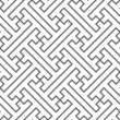 Ethnic vector seamless pattern - gray lines — 图库矢量图片