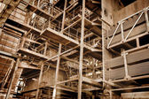 Metal construction - abandoned industrial area — Stock Photo