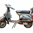 Old scooter on white background — Stock Photo