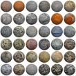 Set of 3D stone balls on white - seamless texture — Stock Photo #16855417