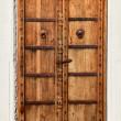 An old dilapidated wooden door — Stock Photo