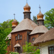 Old wooden Church. Ukraine Pirogovo — Stock Photo