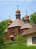 Old wooden Church. Ukraine Pirogovo — Stock Photo