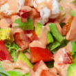 Shrimp salad with avocado close up — Stock Photo