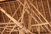 Indonesian bamboo roof construction — Stock Photo