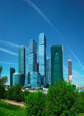 Business center with skyscrapers - Moscow City — Stock Photo