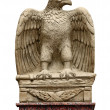 Antique statue - eagle with a sword — Stock Photo