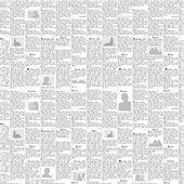 Newspaper vector background — Stock Vector