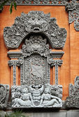 Detail of Balinese carved relief — ストック写真