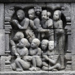 Detail of Buddhist carved relief - Stockfoto