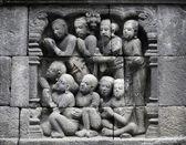 Detalle de relieve budistas talladas — Foto de Stock