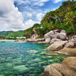 Exotic tropical ocean shore — Stockfoto