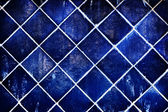 Wall of blue ceramic — Foto Stock